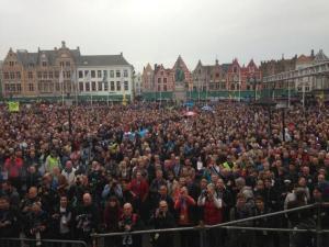 The start line at Brugge via @michael_hepburn and @ORICA-GreenEDGE on Twitter